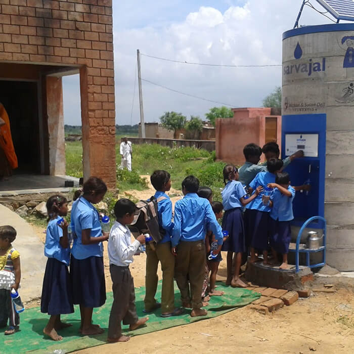 school-children-using-water-atm