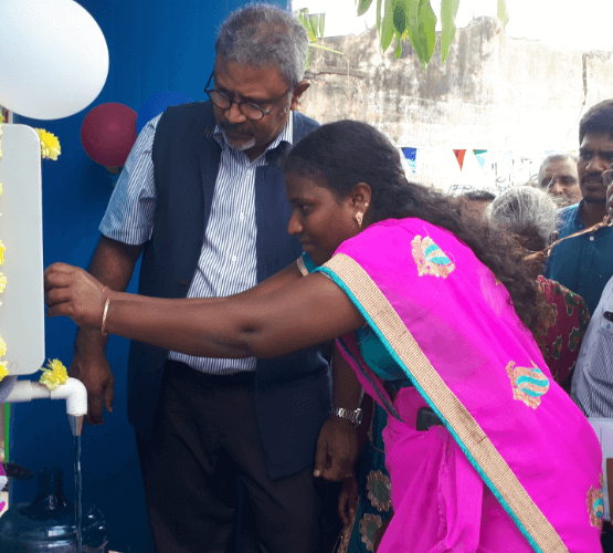 water-atm-inauguration-by-woman